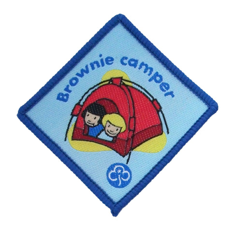 Brownie Camper Advanced Woven Badge