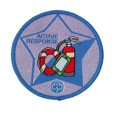 Guide Active Response Woven Badge