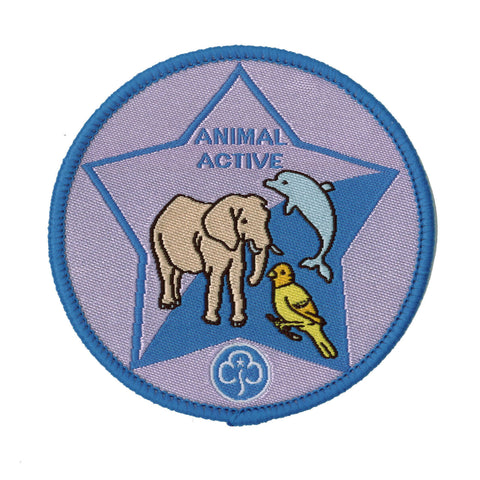 Guide Animal Active Woven Badge