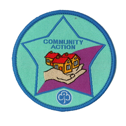 Guide Community Action Woven Badge