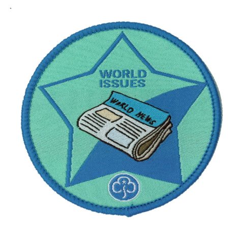 Guide World Issues Woven Badge