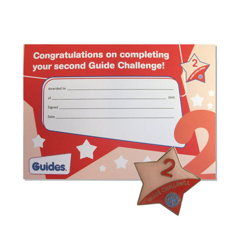 Guide Challenge 2 Metal Badge and Certificate
