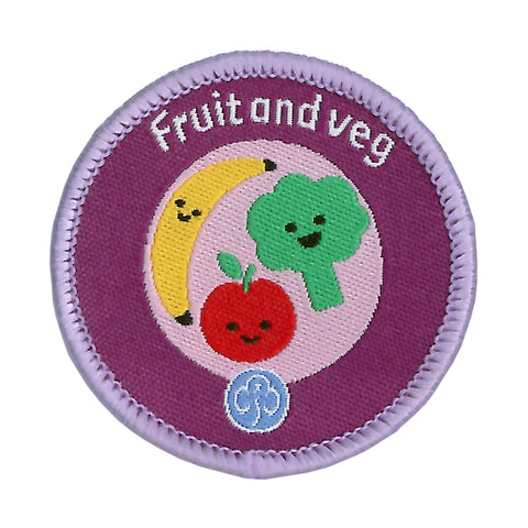 Rainbows Fruit and Veg Woven Badge
