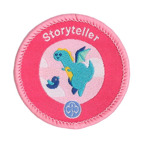 Rainbows Storyteller Woven Badge