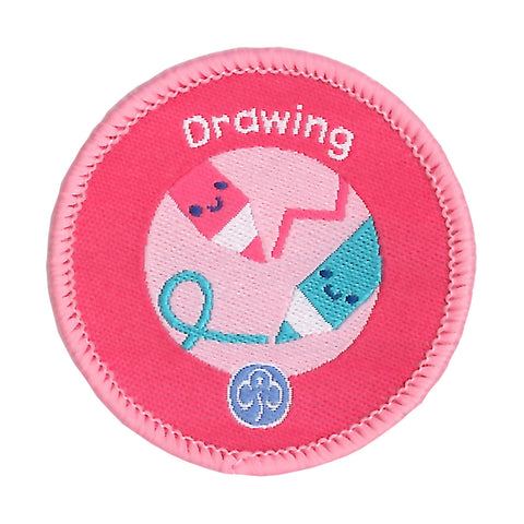 Rainbows Drawing Woven Badge