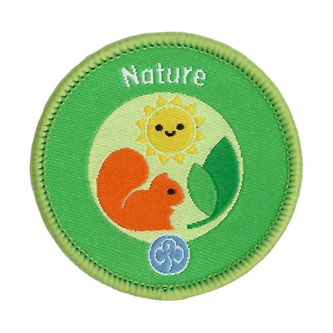 Rainbows Nature Woven Badge