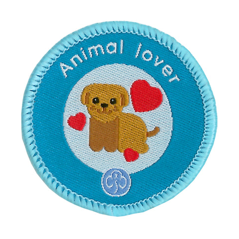 Rainbows Animal Lover Woven Badge