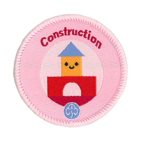Rainbows Construction Woven Badge