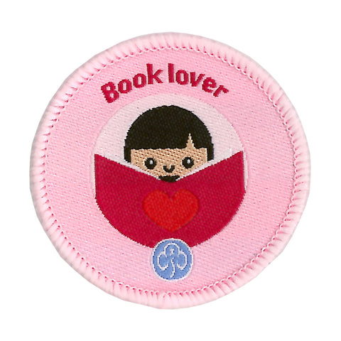 Rainbows Book Lover Woven Badge