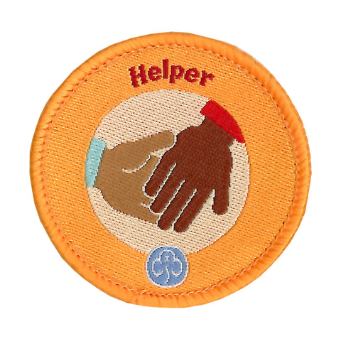Rainbows Helper Woven Badge