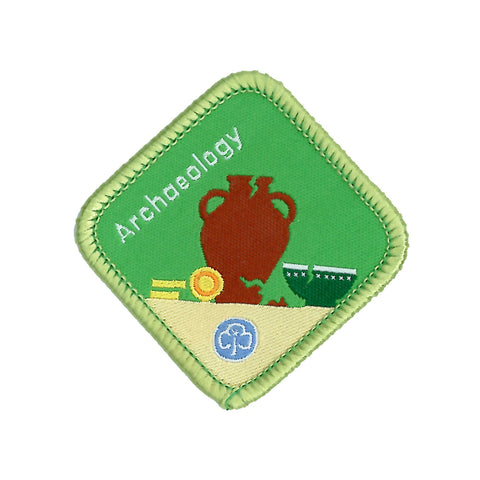 Brownies Archaeology Woven Badge