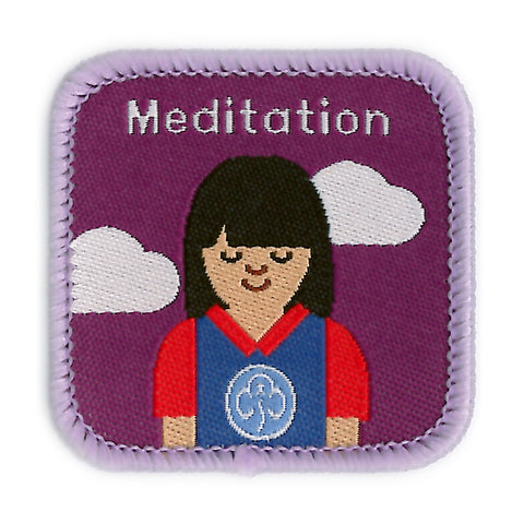 Guides Meditation Woven Badge