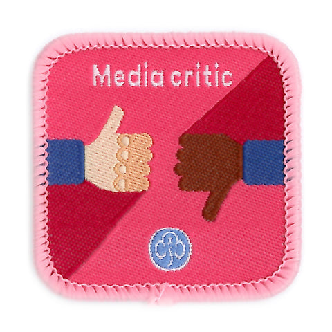 Guides Media Critic Woven Badge