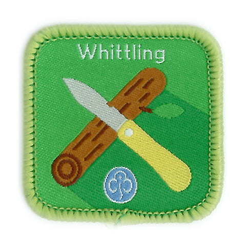 Guides Whittling Woven Badge