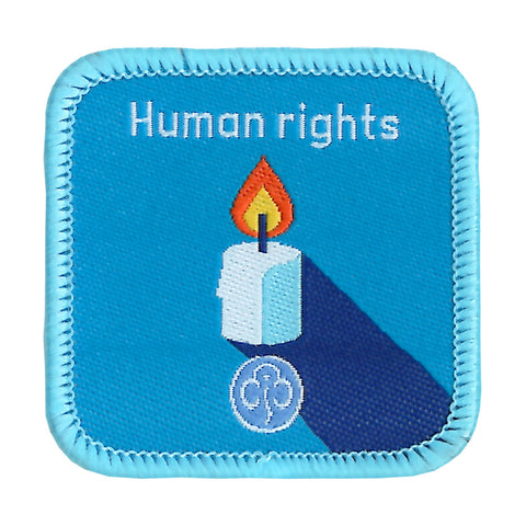 Guides Human Rights Woven Badge