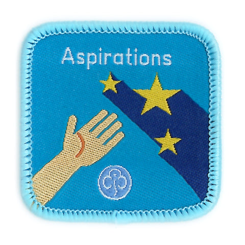 Guides Aspirations Woven Badge