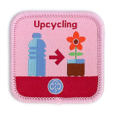 Guides Upcycling Woven Badge