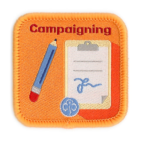 Guides Campaigning Woven Badge