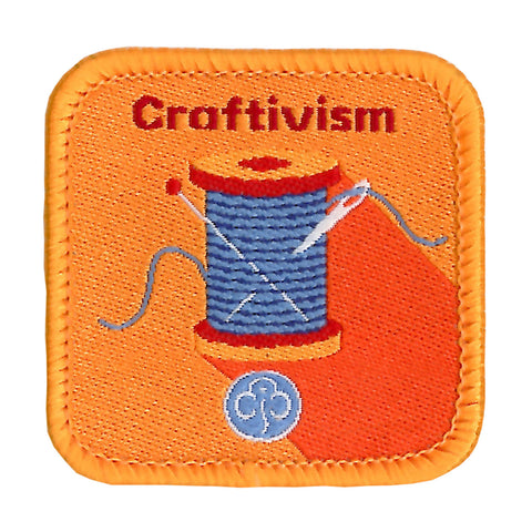 Guides Craftivism Woven Badge
