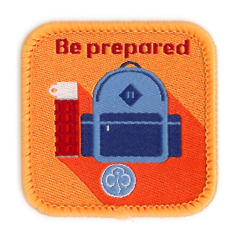 Guides Be Prepared Woven Badge