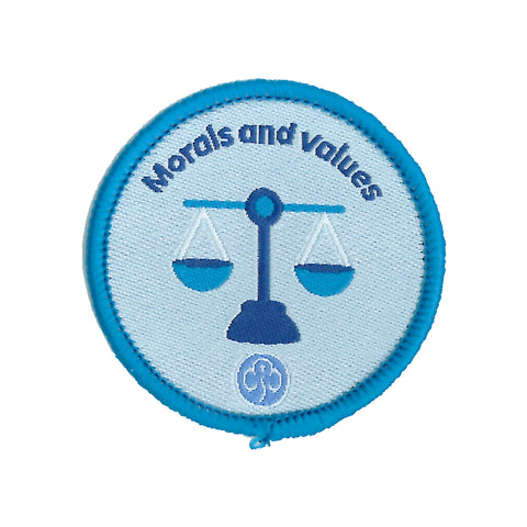 Rangers Morals and Values Woven Badge
