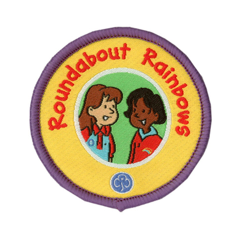 Roundabout Rainbows Woven Badge