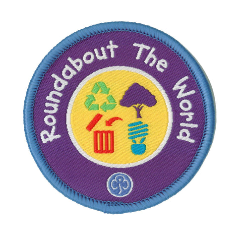 Roundabout The World Woven Badge
