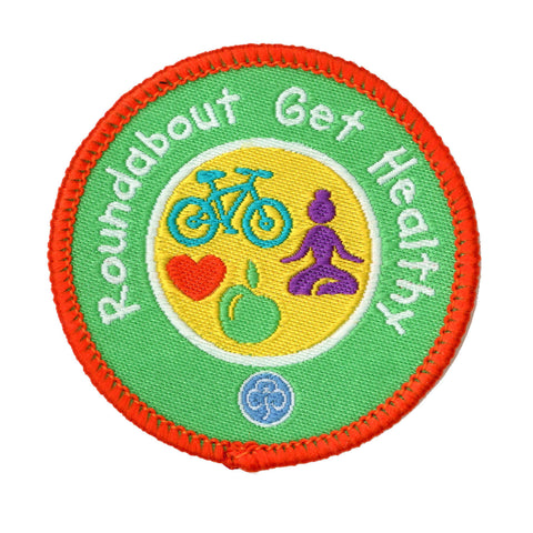 Roundabout Get Healthy Woven Badge