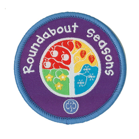 Roundabout Seasons Woven Badge