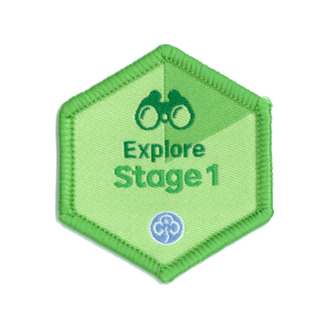 Skills Builder - Have Adventures - Explore Stage 1 Woven Badge