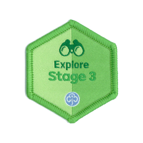 Skills Builder - Have Adventures - Explore Stage 3 Woven Badge