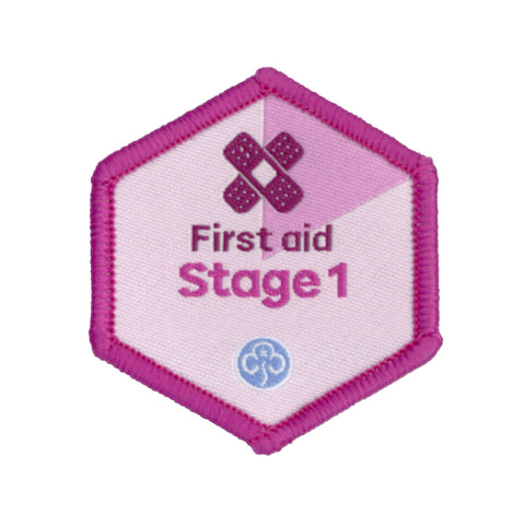 Skills Builder - Be Well - First Aid Stage 1 Woven Badge