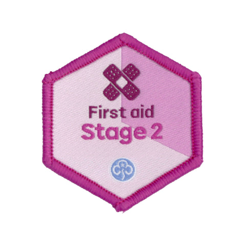 Skills Builder - Be Well - First Aid Stage 2 Woven Badge