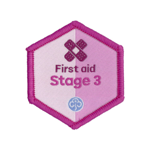 Skills Builder - Be Well - First Aid Stage 3 Woven Badge
