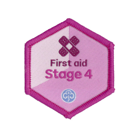 Skills Builder - Be Well - First Aid Stage 4 Woven Badge
