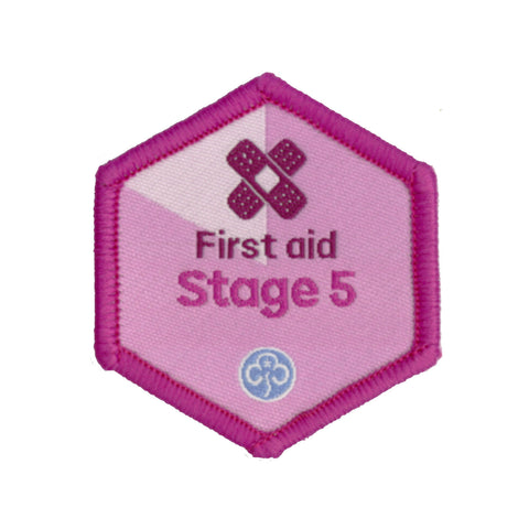 Skills Builder - Be Well - First Aid Stage 5 Woven Badge