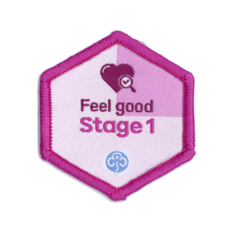 Skills Builder - Be Well - Feel Good Stage 1 Woven Badge