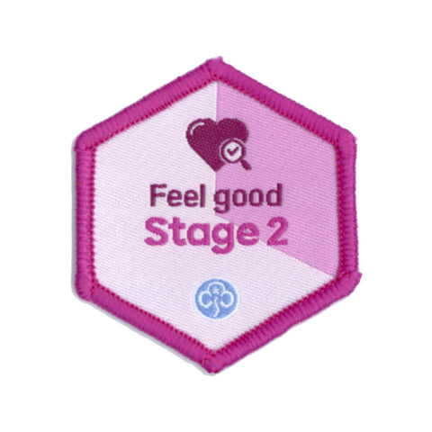 Skills Builder - Be Well - Feel Good Stage 2 Woven Badge