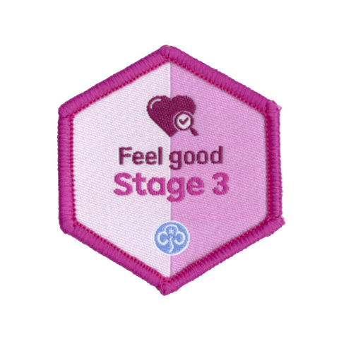 Skills Builder - Be Well - Feel Good Stage 3 Woven Badge