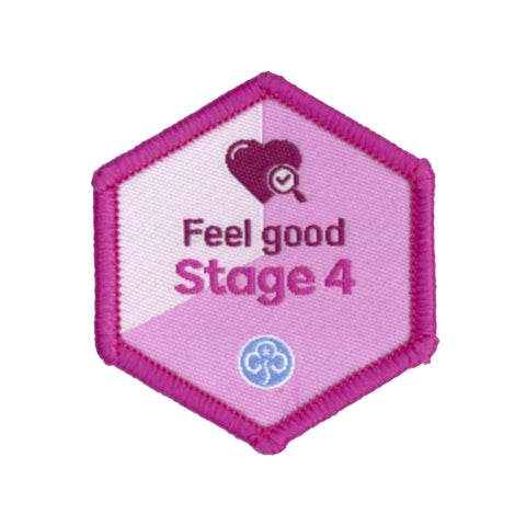 Skills Builder - Be Well - Feel Good Stage 4 Woven Badge