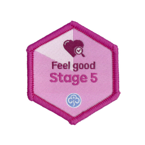 Skills Builder - Be Well - Feel Good Stage 5 Woven Badge