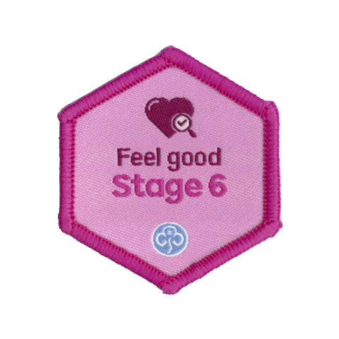 Skills Builder - Be Well - Feel Good Stage 6 Woven Badge
