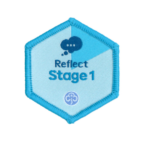 Skills Builder- Know Myself - Reflect Stage 1 Woven Badge