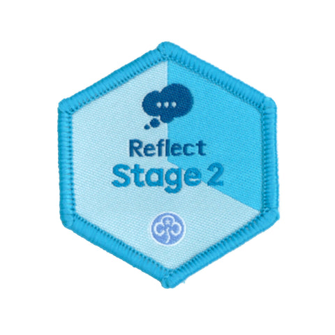 Skills Builder- Know Myself - Reflect Stage 2 Woven Badge