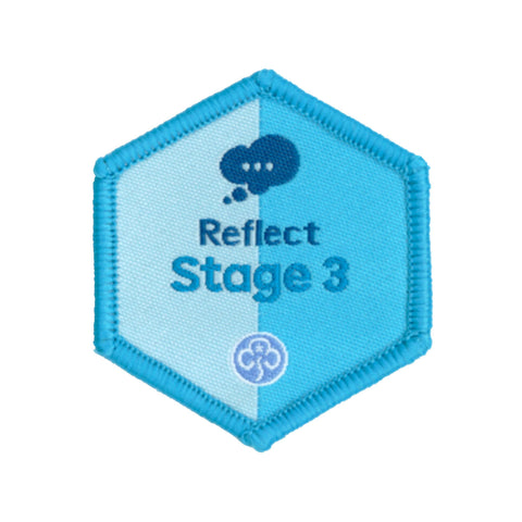 Skills Builder- Know Myself - Reflect Stage 3 Woven Badge