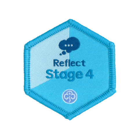 Skills Builder- Know Myself - Reflect Stage 4 Woven Badge