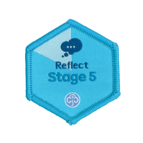 Skills Builder- Know Myself - Reflect Stage 5 Woven Badge