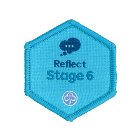 Skills Builder- Know Myself - Reflect Stage 6 Woven Badge