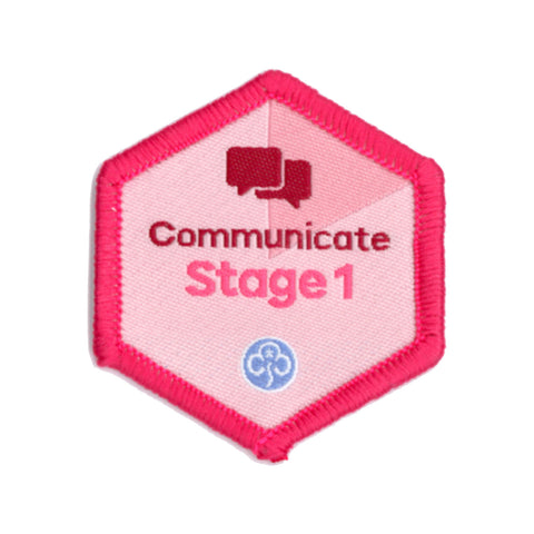 Skills Builder - Express Myself - Communicate Stage 1 Woven Badge