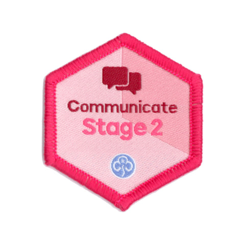 Skills Builder - Express Myself - Communicate Stage 2 Woven Badge